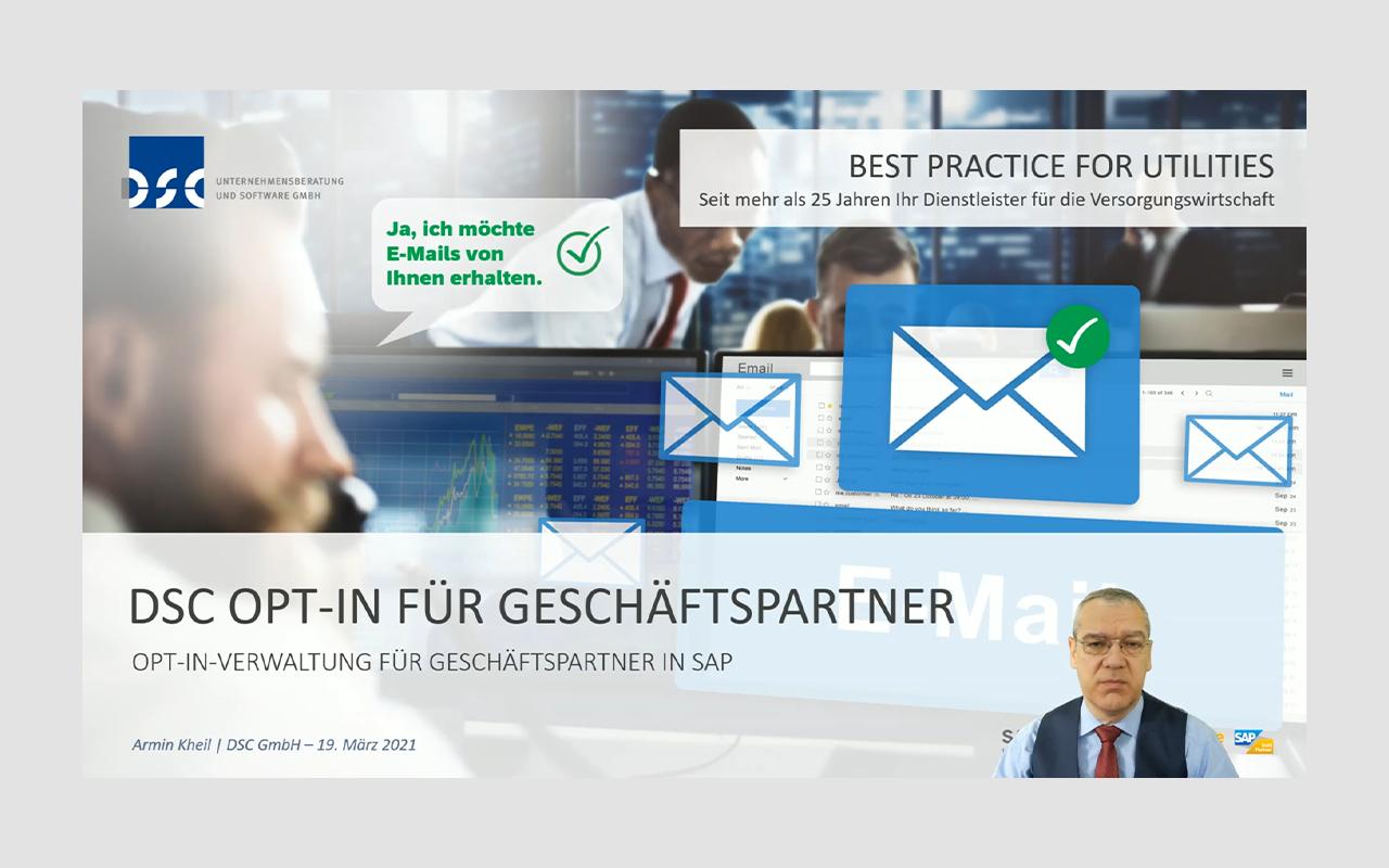 EU-DSGVO - DSC Opt-In-Verwaltung