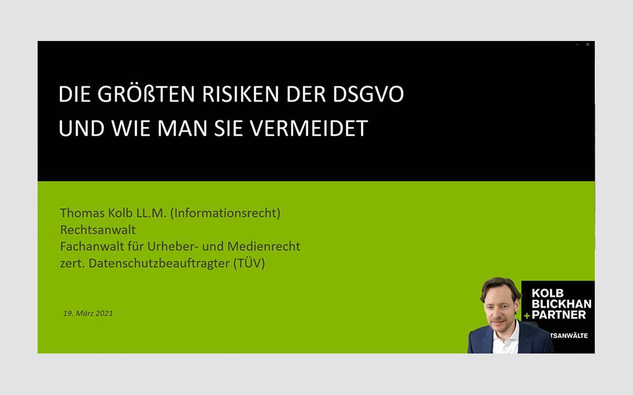 EU-DSGVO - RAE Kolb, Blickhan und Partner